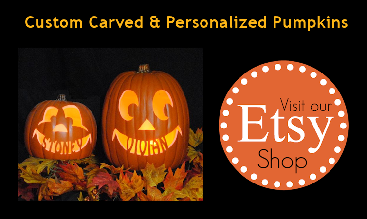 Visit Our Etsy Store Custom Carved and Personalized Pumpkins