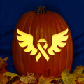 Breast Cancer Ribbon with Wings CO