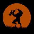 Werewolf Playing Sax