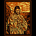 Jesus Carrying a Lost Lamb