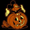 Mickey Inside Pumpkin