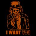 I Want You Uncle Sam Skeleton