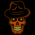 Skull with Hat 02