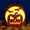Pumpkin with Bats CO