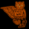Vintage Owl This Way Left