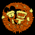 Garfield and Odie Wreath