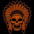Indian Chief Skull 01