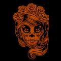 Sugar Skul Woman with Roses