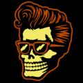 Rockabilly Skull 02