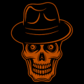 Skull with Hat 01