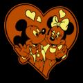 Mickey Minnnie Heart