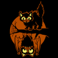 Cat and Bat Tree Branch