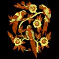 Parrots & Flowers