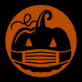 Pumpkin Wearing Mask