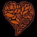 Floral Rose Heart