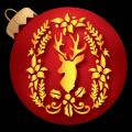 Christmas Deer Wreath