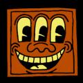 Keith Haring Face 02
