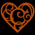 Heart Script Letter C 02