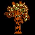 Giraffe Flower Crown