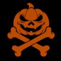Pumpkin with Cross Bones