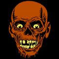 Spooky Zombie Head