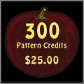300 Pattern Credits