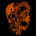 Snake in Skull