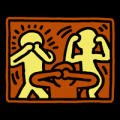 See Hear Speak No Evil - Keith Haring