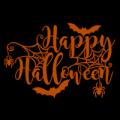 Happy Halloween Bats and Spiders 01
