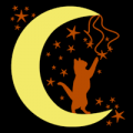 Cat Playing with Stars 01