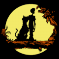 Shaggy and Scooby Silhouette 01