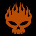 Shaded Flame Skull