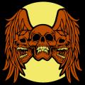 Three Skulls with Wings 01