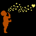 Kid Blowing Hearts