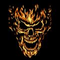 Flaming Skull 02