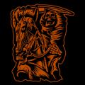 Reaper on Horse