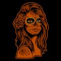 Sugar Skull Woman with Rose