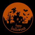 Happy Halloween Haunted House Scene 01