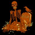 Skeleton Pop Out Grave