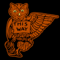 Vintage Owl This Way Right