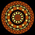 Mandala Om Yoga Flower
