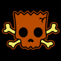Bart Simpson Skull