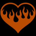 Flaming Heart 01