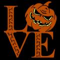 Love Pumpkin with Skulls