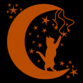 Cat Playing with Stars 02