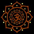 Om Symbol in Mandala Flower
