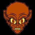 Evil Alien Head