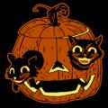 Vintage Cats in Pumpkin