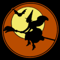 Vintage Witch Moon