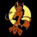 Devil Woman Pin Up